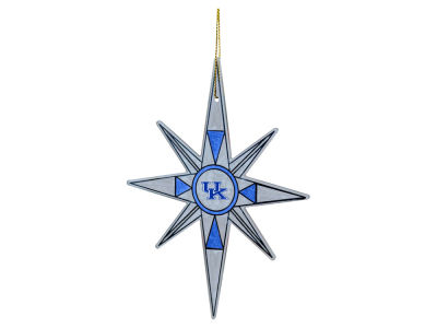 Kentucky Wildcats Glitter Snowflake Ornament