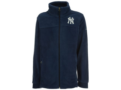 New York Yankees MLB Youth Flanker Full Zip Fleece Jacket