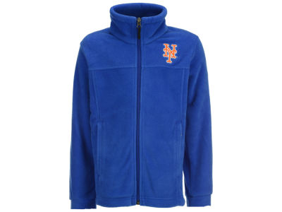 New York Mets Columbia MLB Youth Flanker Full Zip Fleece Jacket