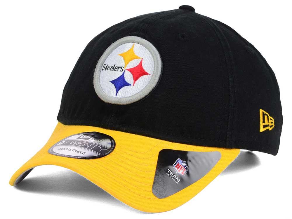 Pittsburgh Steelers New Era NFL Relaxed 2Tone 9TWENTY Strapback Cap ... 13ab5f140