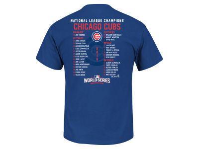 Chicago Cubs MLB Men's 2016 League Champ Roster T-Shirt