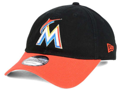 Miami Marlins New Era MLB Relaxed 2Tone 9TWENTY Strapback Cap