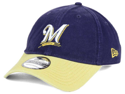 Milwaukee Brewers New Era MLB Relaxed 2Tone 9TWENTY Strapback Cap