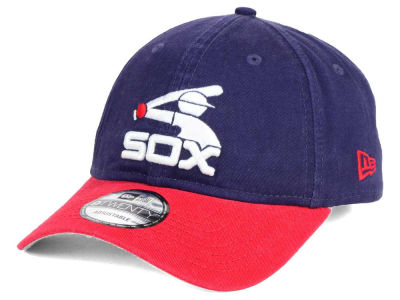 Chicago White Sox New Era MLB Coop Core Classic 2Tone 9TWENTY Strapback Cap