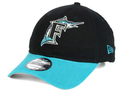 Florida Marlins New Era MLB Coop Core Classic 2Tone 9TWENTY Strapback Cap