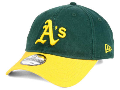 Oakland Athletics New Era MLB Coop Core Classic 2Tone 9TWENTY Strapback Cap