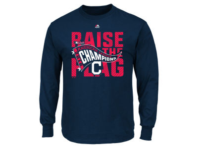 Cleveland Indians MLB Men's 2016 League Champ Long Sleeve T-Shirt