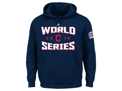 Cleveland Indians MLB Men's 2016 World Series Team Tude Patch Hoodie