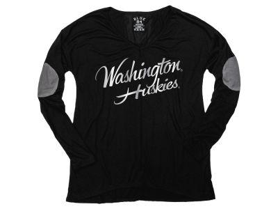 Washington Huskies Blue 84 NCAA Women's Blender Foil Long Sleeve T-Shirt
