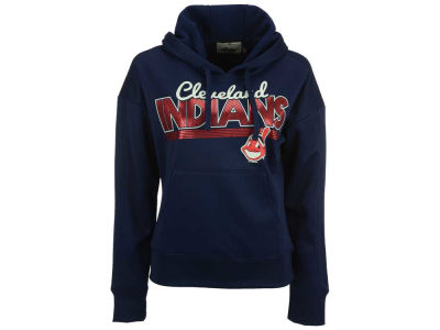 Cleveland Indians MLB Women's Pullover Foil Hooded Sweatshirt