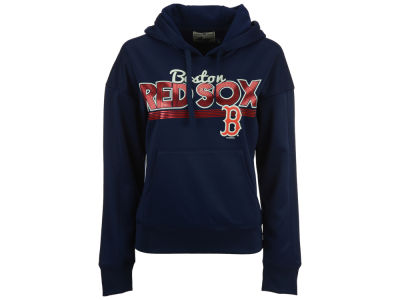Boston Red Sox MLB Women's Pullover Foil Hooded Sweatshirt