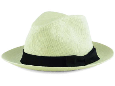 LIDS Private Label White Ramie Wide Brim Fedora