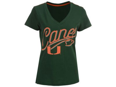 Miami Hurricanes GIII NCAA Women's Homefield T-Shirt
