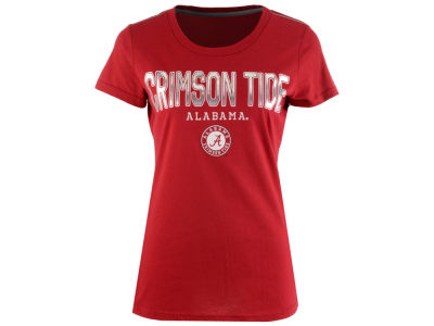 Alabama Crimson Tide GIII NCAA Women's Round the Bases Foil T-Shirt