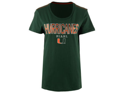 Miami Hurricanes GIII NCAA Women's Round the Bases Foil T-Shirt