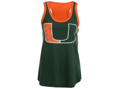 Miami Hurricanes GIII NCAA Women's Power Alley Tank
