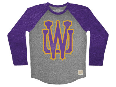 Washington Huskies Retro Brand NCAA Men's Color Block Long Sleeve T-Shirt