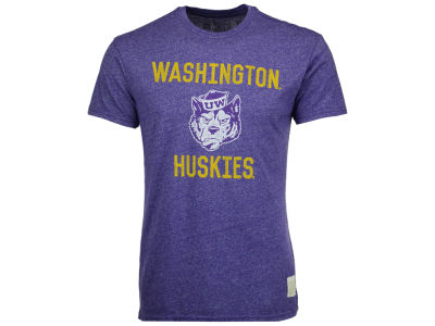 Washington Huskies Retro Brand NCAA Men's Mock Twist Team Logo T-Shirt