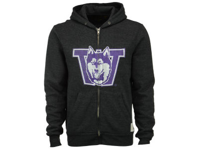 Washington Huskies Retro Brand NCAA Men's Tri-Blend Fleece Full Zip Hoodie