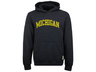Michigan Wolverines Retro Brand NCAA Men's Tri-Blend Fleece Hoodie