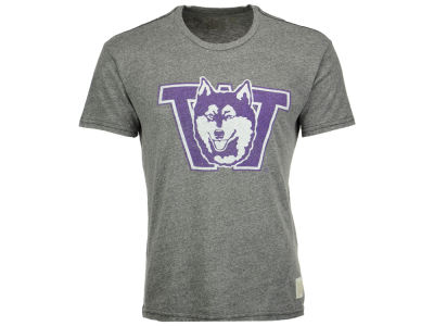 Washington Huskies Retro Brand NCAA Men's Tri-Blend Vault Logo T-Shirt