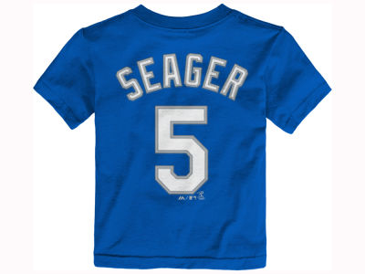Los Angeles Dodgers Corey Seager Majestic MLB Toddler Official Player T-Shirt
