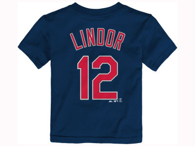Cleveland Indians Francisco Lindor Majestic MLB Toddler Official Player T-Shirt