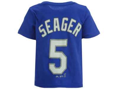 Los Angeles Dodgers Corey Seager Majestic MLB Infant Official Player T-Shirt