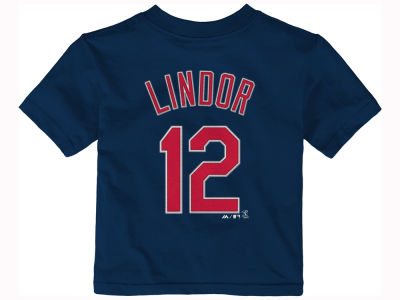 Cleveland Indians Francisco Lindor Majestic MLB Infant Official Player T-Shirt