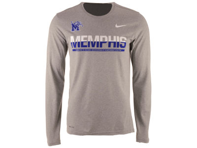 Memphis Tigers Nike NCAA Men's Legend Staff Sideline Long Sleeve T-Shirt