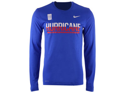 Tulsa Golden Hurricane Nike NCAA Men's Legend Staff Sideline Long Sleeve T-Shirt