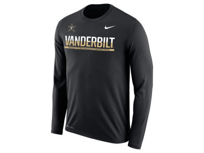 Vanderbilt Commodores Nike NCAA Men's Legend Staff Sideline Long Sleeve T-Shirt