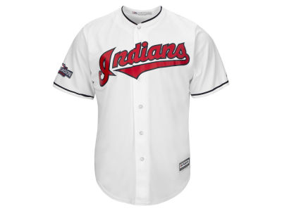 Cleveland Indians Majestic MLB Youth 2016 World Series Patch Blank CB Jersey