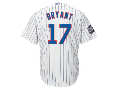 Chicago Cubs Kris Bryant Majestic MLB Youth 2016 World Series Patch Player CB Jersey