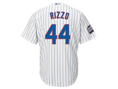 Chicago Cubs Anthony Rizzo Majestic MLB Youth 2016 World Series Patch Player CB Jersey