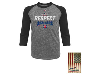 Chicago Cubs MLB Men's Division Series Locker Room Raglan Shirt