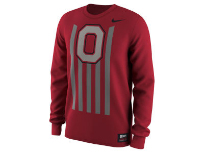 Ohio State Buckeyes Nike NCAA Men's Alternate Throwback Long Sleeve T-Shirt