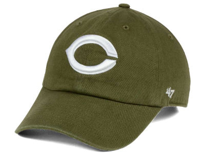 Cincinnati Reds '47 MLB Olive White '47 CLEAN UP Cap