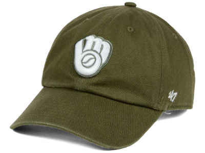Milwaukee Brewers '47 MLB Olive White '47 CLEAN UP Cap