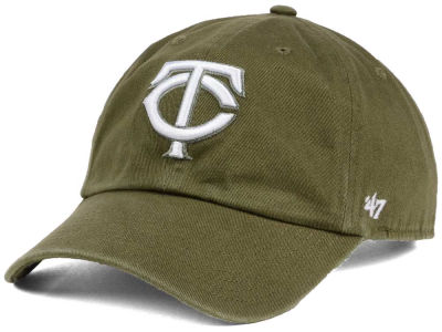 Minnesota Twins '47 MLB Olive White '47 CLEAN UP Cap