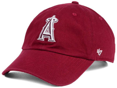Los Angeles Angels '47 MLB Cardinal and White '47 CLEAN UP Cap