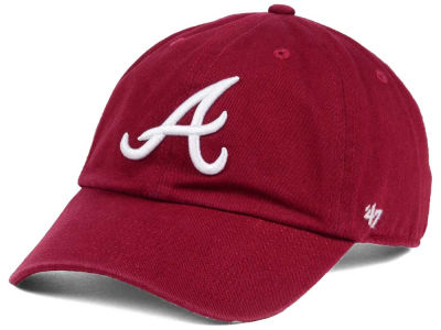 Atlanta Braves '47 MLB Cardinal and White '47 CLEAN UP Cap