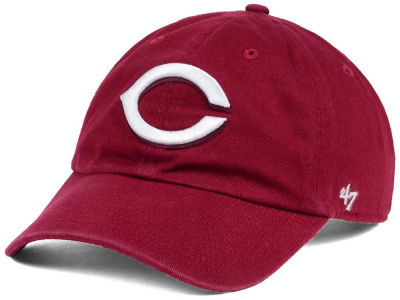 Cincinnati Reds '47 MLB Cardinal and White '47 CLEAN UP Cap