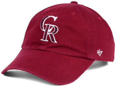 Colorado Rockies '47 MLB Cardinal and White '47 CLEAN UP Cap