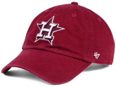 Houston Astros '47 MLB Cardinal and White '47 CLEAN UP Cap