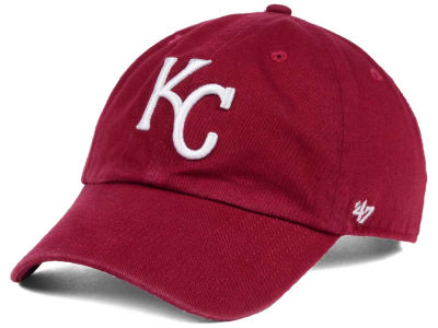 Kansas City Royals '47 MLB Cardinal and White '47 CLEAN UP Cap