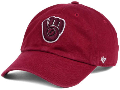 Milwaukee Brewers '47 MLB Cardinal and White '47 CLEAN UP Cap