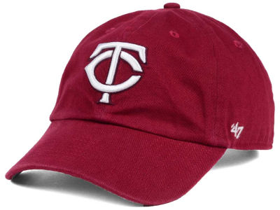 Minnesota Twins '47 MLB Cardinal and White '47 CLEAN UP Cap