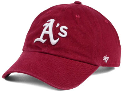 Oakland Athletics '47 MLB Cardinal and White '47 CLEAN UP Cap