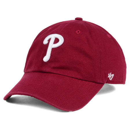 Philadelphia Phillies '47 MLB Cardinal And White '47 CLEAN UP Cap